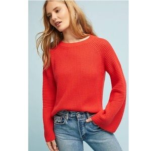 Anthropologie Needle Leah Ribbed Pullover Sweater